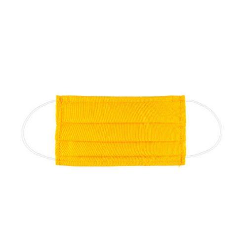 máscara reutilizável amarela