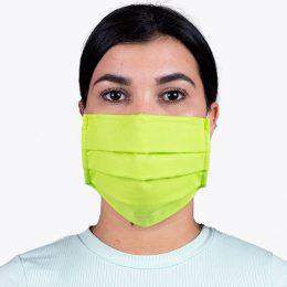 Máscara Reutilizável Nível 2 Verde Flúor